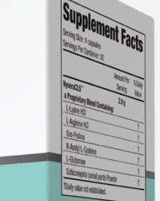Vysera CLS ingredients