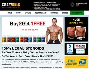 CrazyBulk website