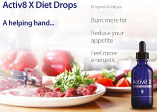 Activ 8 X diet drops advert