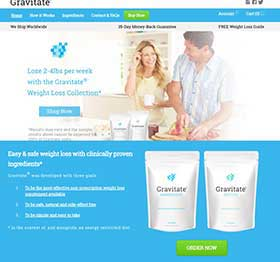 Gravitate Nutrition website