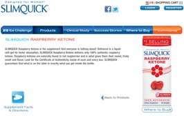 webiste for slimquick raspberry ketone
