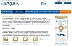 SLimquick Caffeine Free Website