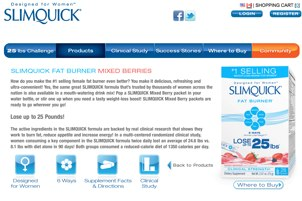 officla Canada website for SlimQuick fat burner