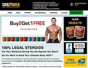CrazyBulk website