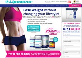 Lipozene website
